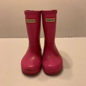 Toddler Hunter Pink Tall Rubber Boots